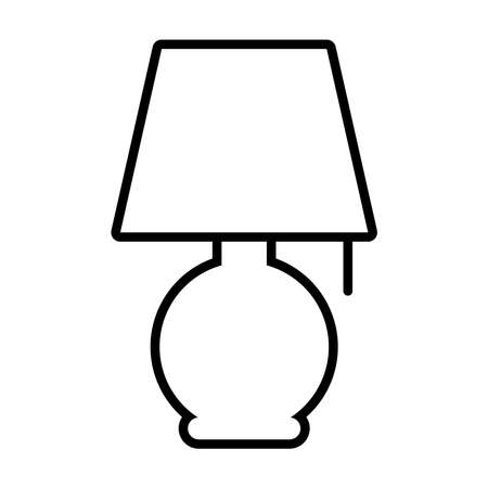 night lamp icon over white background, line style, vector illustration 일러스트