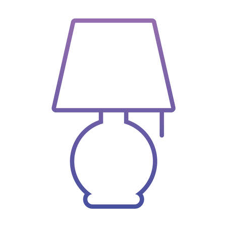 night lamp icon over white background, gradient style, vector illustration 일러스트