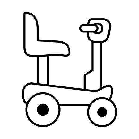 icon of Wheelchair for disabled person over white background, line style, vector illustration