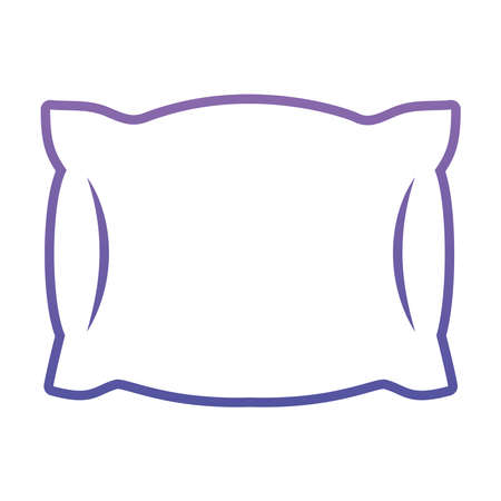 pillow icon over white background, gradient style, vector illustration Ilustração
