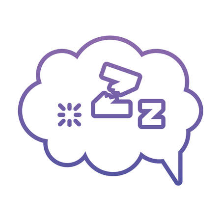 speech bubble with sleeping symbol over white background, gradient style, vector illustration 向量圖像