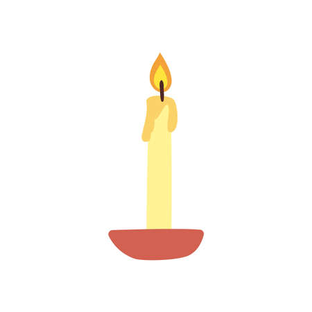 Candle free form style icon design, Fire flame candlelight light spirituality burn and decoration theme Vector illustration