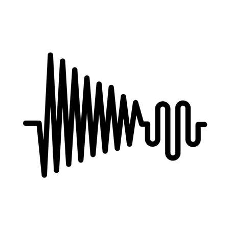 high and low sound frequency over white background, vector illustration