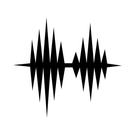 sound music waves icon over white background, vector illustration