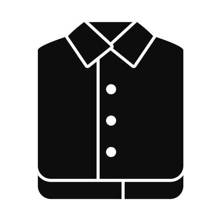 folded shirts icon over white background, silhouette style, vector illustration