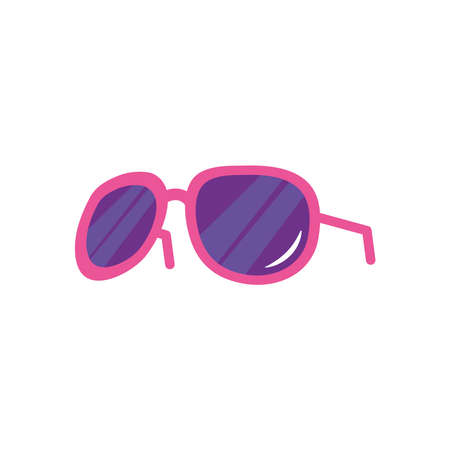 women sunglasses icon over white background, flat style, vector illustration Çizim