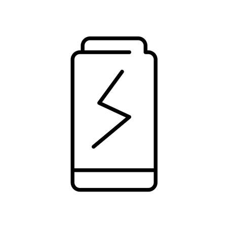 battery icon over white background, line style, vector illustration