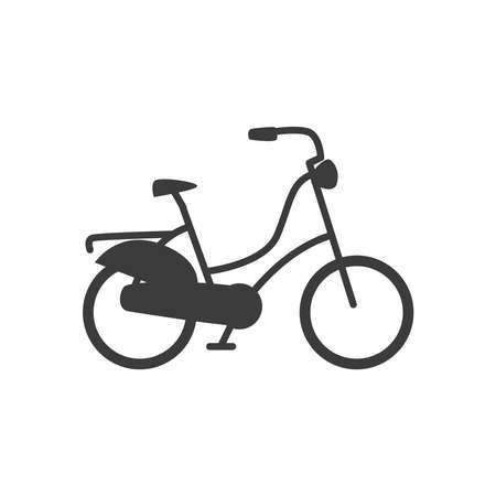 bicycle retro style transport on white background vector illustration design
