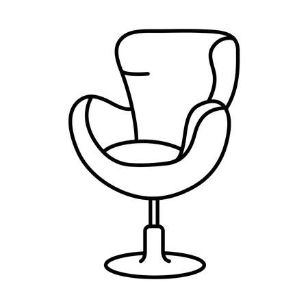 wing chair icon over white background, line style, vector illustration Ilustración de vector