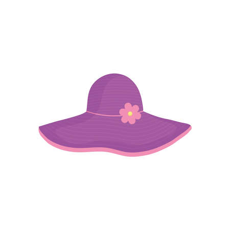 purple hat icon design, Summer vacation and tropical theme Vector illustration Çizim