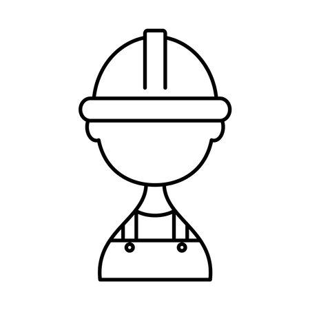 avatar builderman icon over white background, line style, vector illustration