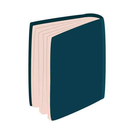 book standing icon over white background, flat style, vector illustration