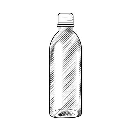 icon of plastic bottle, vector illustration