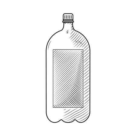 2 liter bottle icon, vector illustration