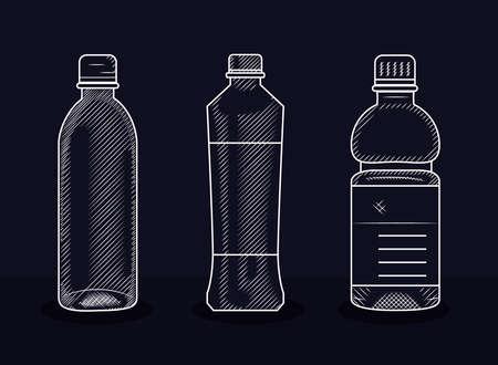 set of plastic bottles, vector illustration 向量圖像