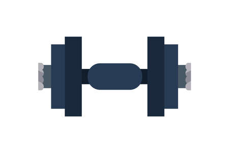 Fitness metal weight on white background design, Gym sport and bodybuilding theme Vector illustration 向量圖像