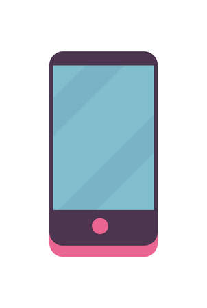 smartphone on white background design, Cellphone mobile digital and phone theme Vector illustration