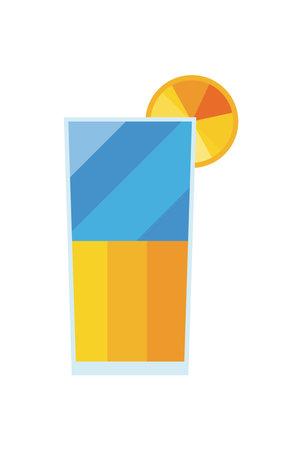 orange juice glass drink on white background design of drink beverage liquid and refreshment theme Vector illustration 向量圖像