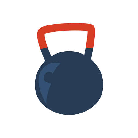 Fitness ball weight on white background design, Gym sport and bodybuilding theme Vector illustration 向量圖像