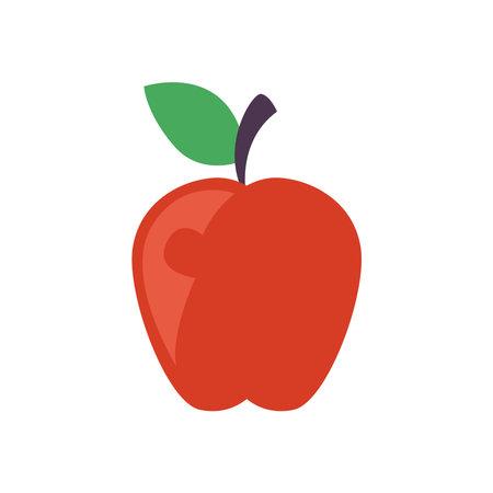 Apple fruit on white background design of healthy organic food theme Vector illustration 向量圖像