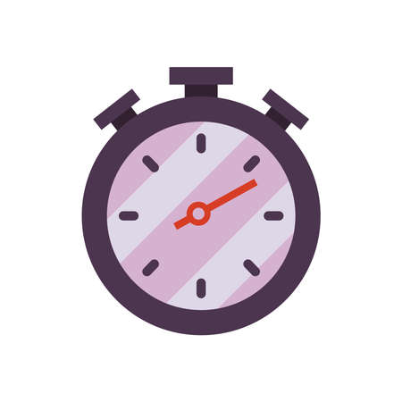 Chronometer instrument on white background design, Time tool second sport stopwatch deadline measure and countdown theme Vector illustration 向量圖像