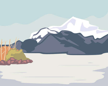Landscape of iceberg mountain design, nature and outdoor theme Vector illustration 向量圖像