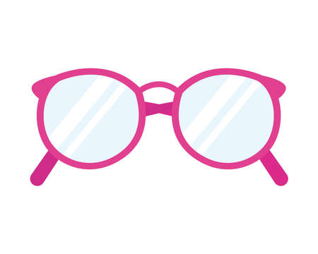 icon of pink round glasses