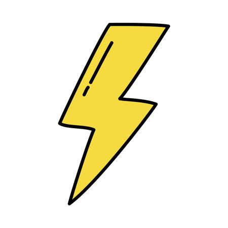 yellow thunder icon on background