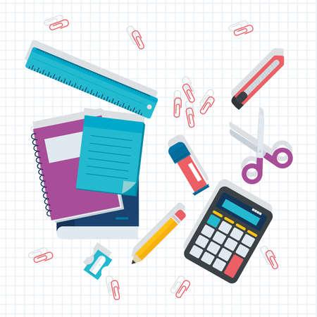 School and education icon set Ilustración de vector