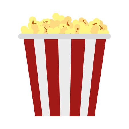 pop corn bucket on background
