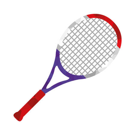 tennis racket on white background