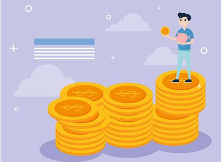 Boy on coins