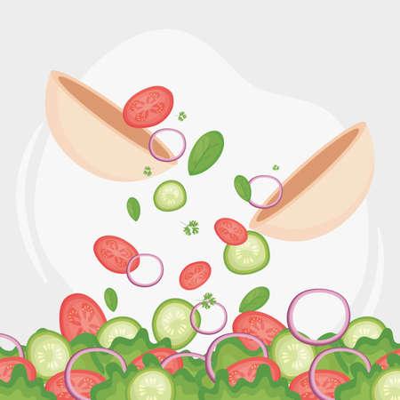 organic food salads