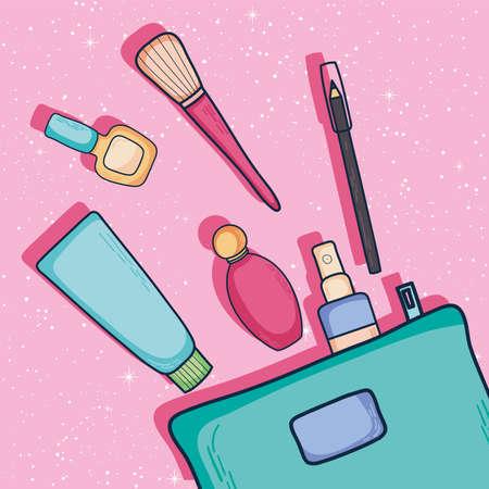 Make up icons Vektoros illusztráció