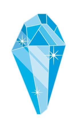 blue crystal shining