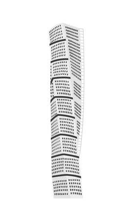turning torso building Vector Illustration