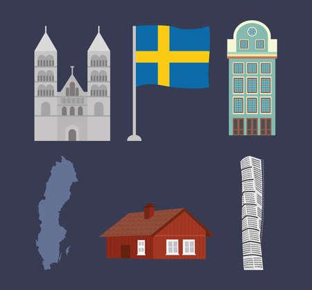 sweden buildings set