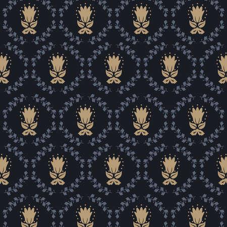 oriental damascus pattern Ilustración de vector