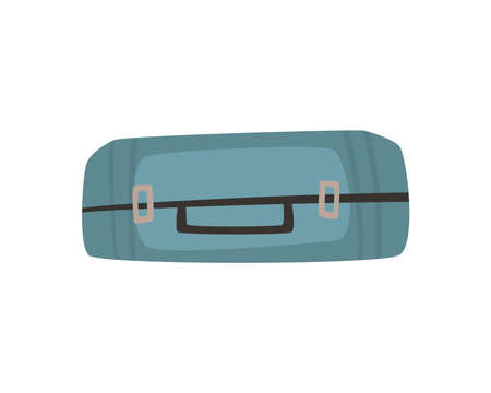 blue suitcase icon 矢量图像