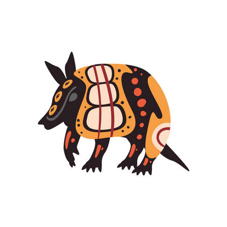 armadillo indigenous animal 矢量图像