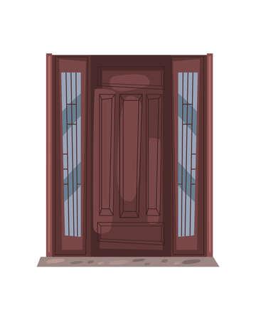 front brown door