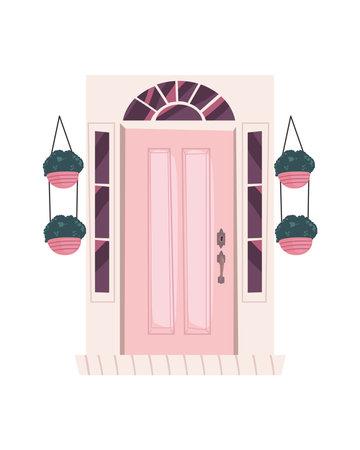 front pink door