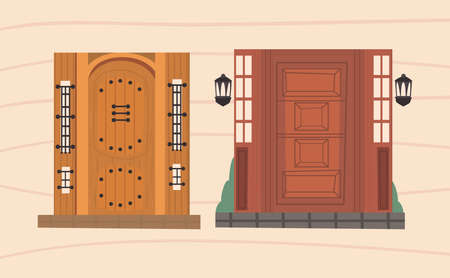 pair fronts doors
