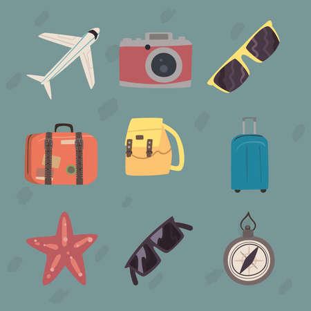 nine bon voyage icons
