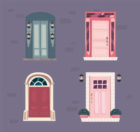 various fronts doors