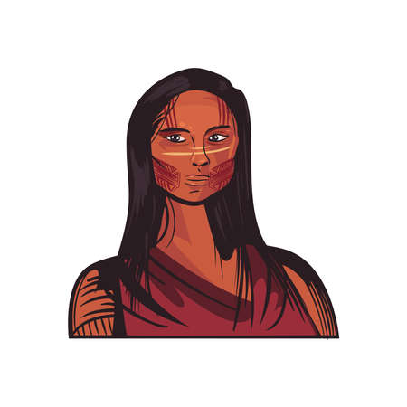 woman indigenous character