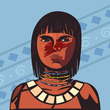 female indigenous kid scene
