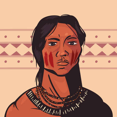 female indigenous scene