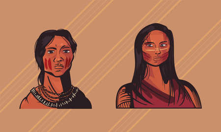 two female indigenous