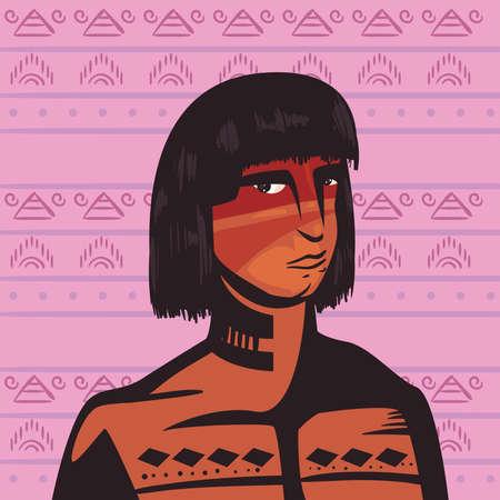 male indigenous character scene